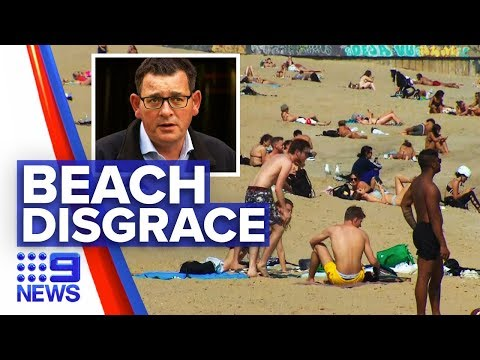 "Coronavirus: St Kilda Beachgoers Ignore ""stay Home"" Warnings 