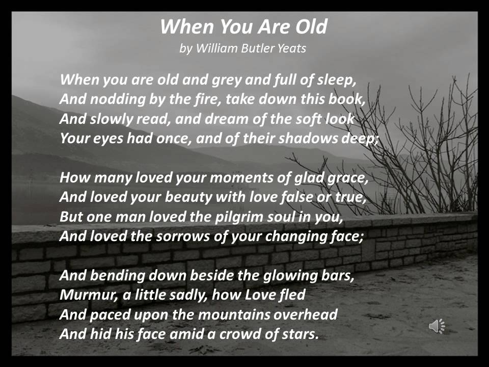 When You Are Old by William Butler Yeats, read by Colin Farrell ...