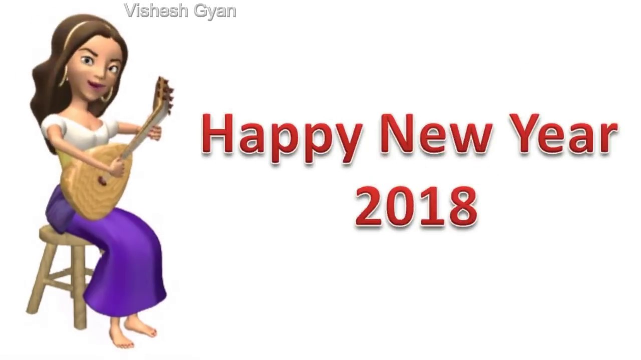 Happy #New Year 2018, Whatsapp Status video, Song, Animation, Wishes ...