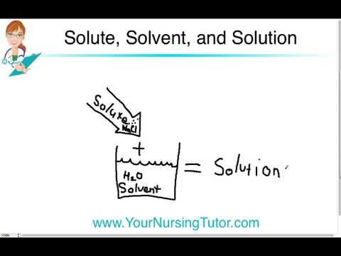 solute, solvent, solution: an easy (and ugly) explanation ⋆ your nursing  tutor