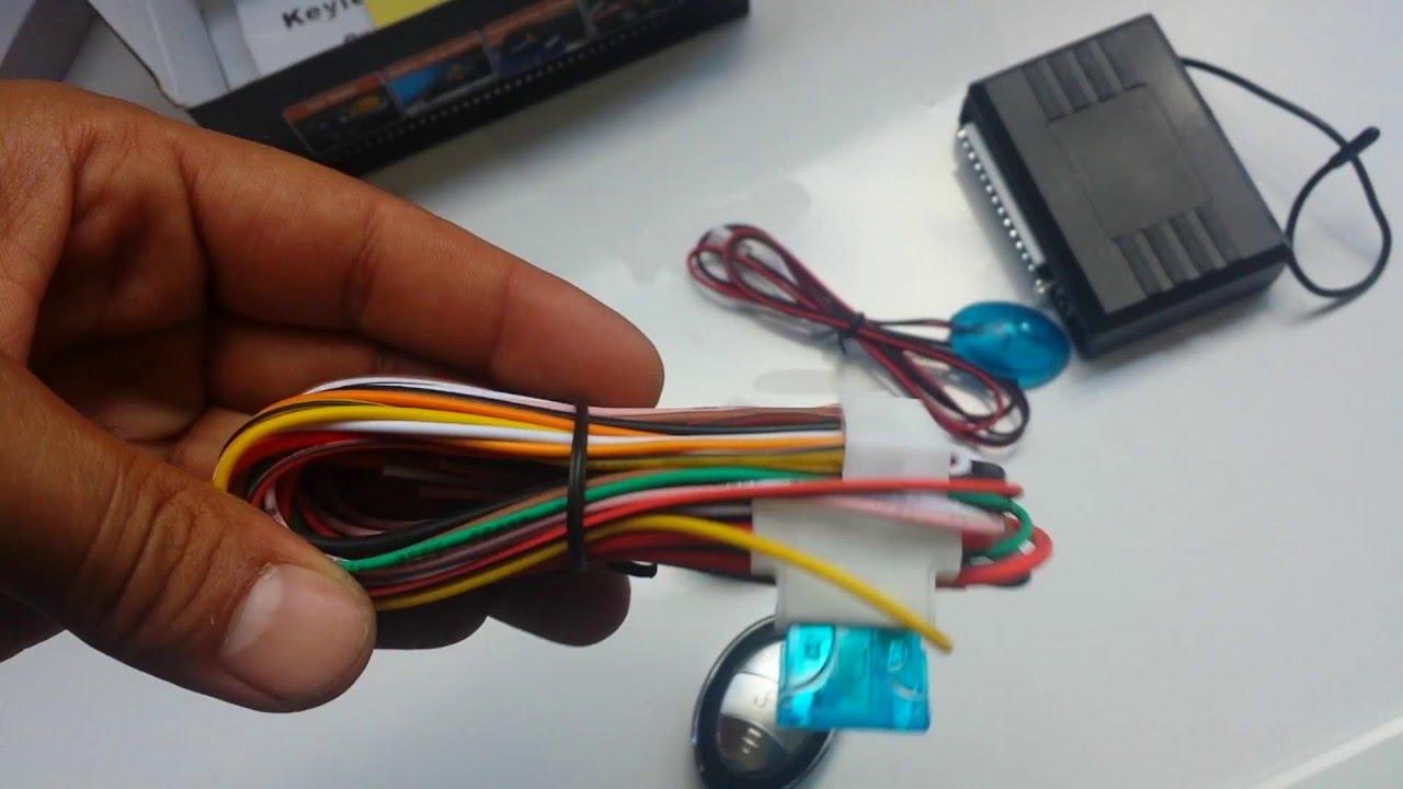 giordon car alarm system wiring diagram sangamo electric meter kit centralisation universel youtube