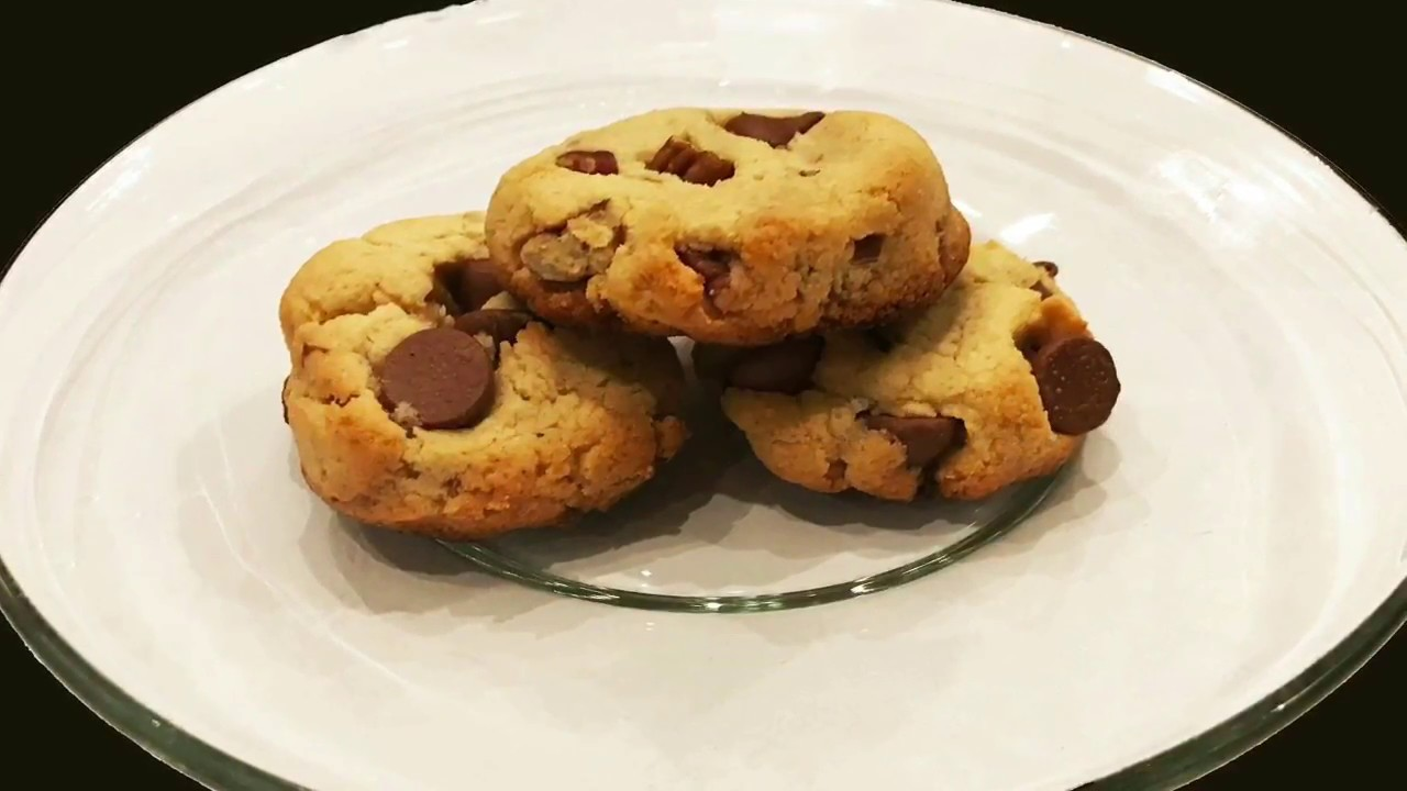 Best Gluten Free Diabetic Friendly Low Carb Chocolate Chip Pecan Cookie Recipe Low Glycemic