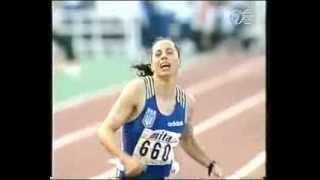 1997 World Championships 200m women final -Susanthika Jayasinghe silver medal