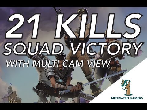 21 KILLS SQUAD VICTORY | Fortnite Battle Royale Multi Cam