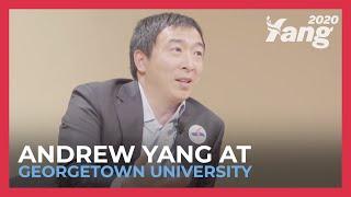 2020 Presidential Candidate Andrew Yang Discusses His Vision for America at Georgetown University