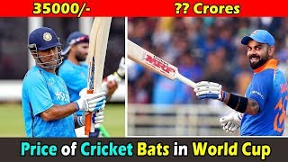 Price of Cricket Bats of Indian Cricketers in World Cup 2019