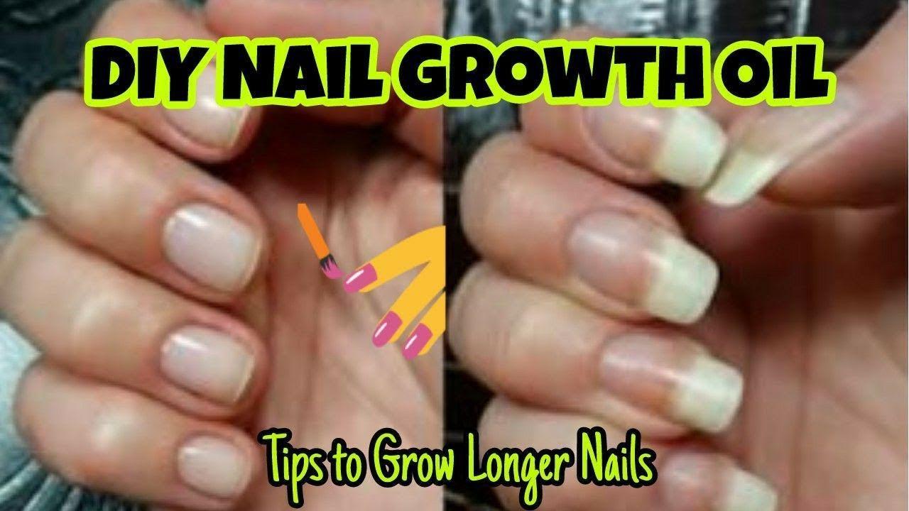 How to Grow Long & Strong Nails   DIY Nail Growth Oil   Hacks & Tips ...