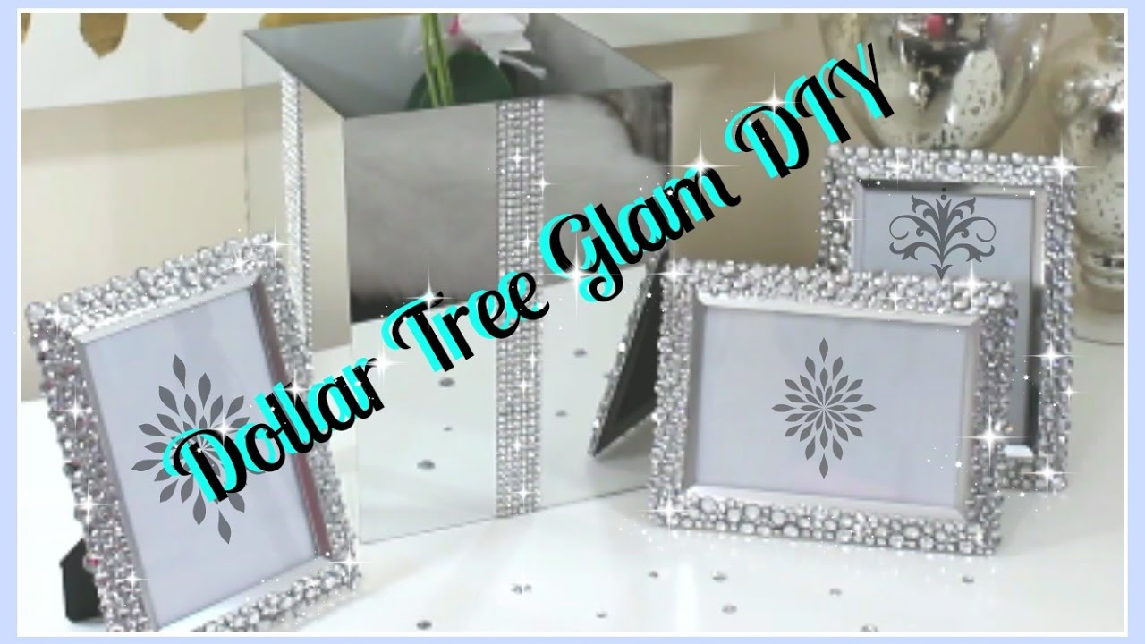💎Dollar Tree DIY\'S|| Bling Vase & Frames DIY 2017 - YouTube