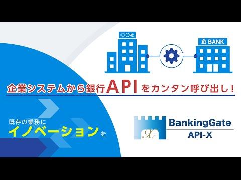 銀行API接続ソフトウェア「BankingGate API-X」