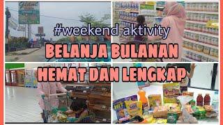BELANJA BULANAN HEMAT TAPI LENGKAP || SERBU DISKONAN OKTOBER 2020 😍 || #Weekend activity