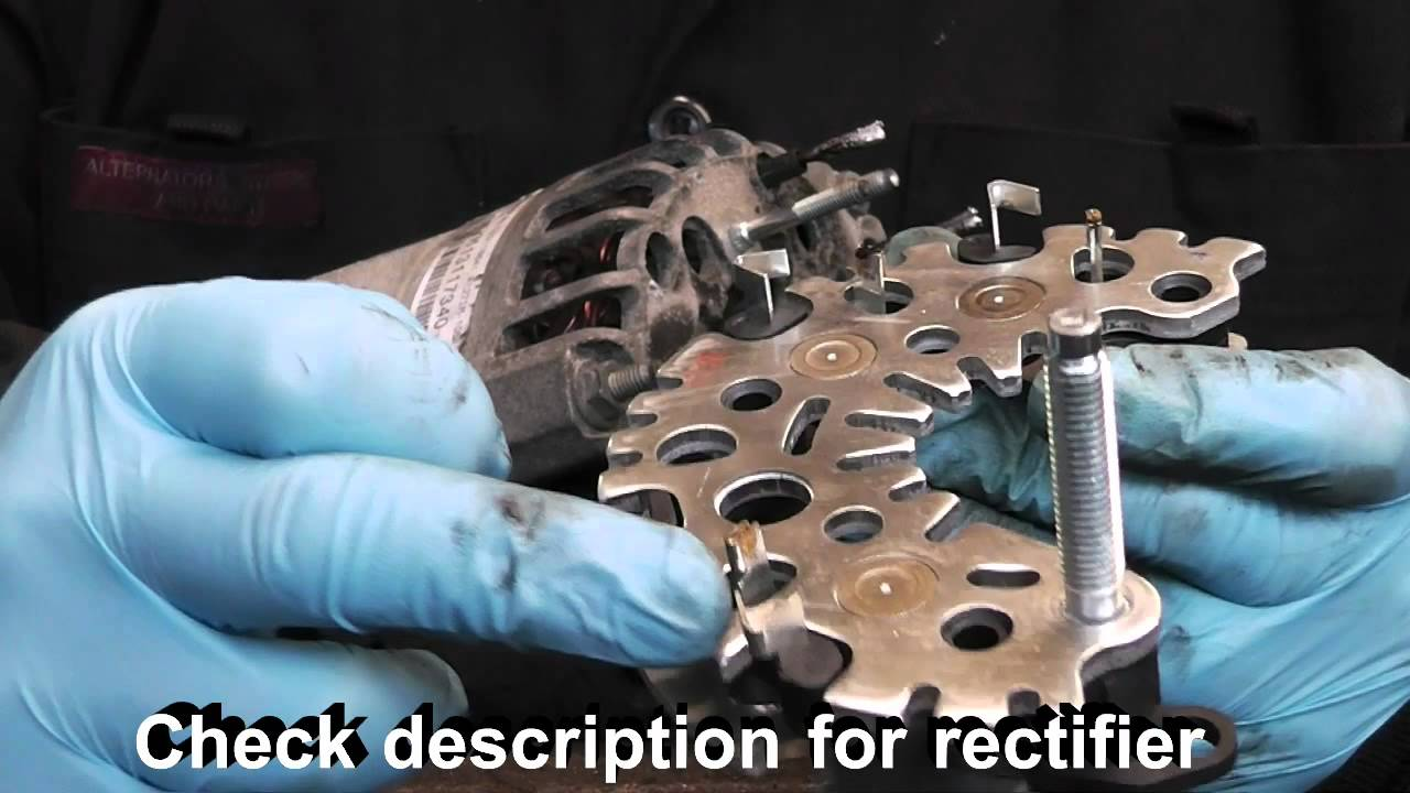 medium resolution of vauxhall opel vectra saab alternator diagnose and repair denso rectifier replacement part 1 youtube