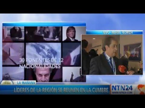 Venezuela y Nicaragua, temas en la XV Cumbre Latinoamericana en Miami