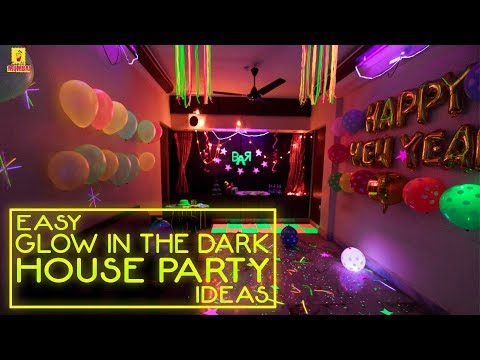 Cool Ways to Decorate the house for a Neon Theme Party | New Years Eve
