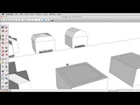 SketchUp Pro 2014 Tutorial | Creating A Mansard Roof