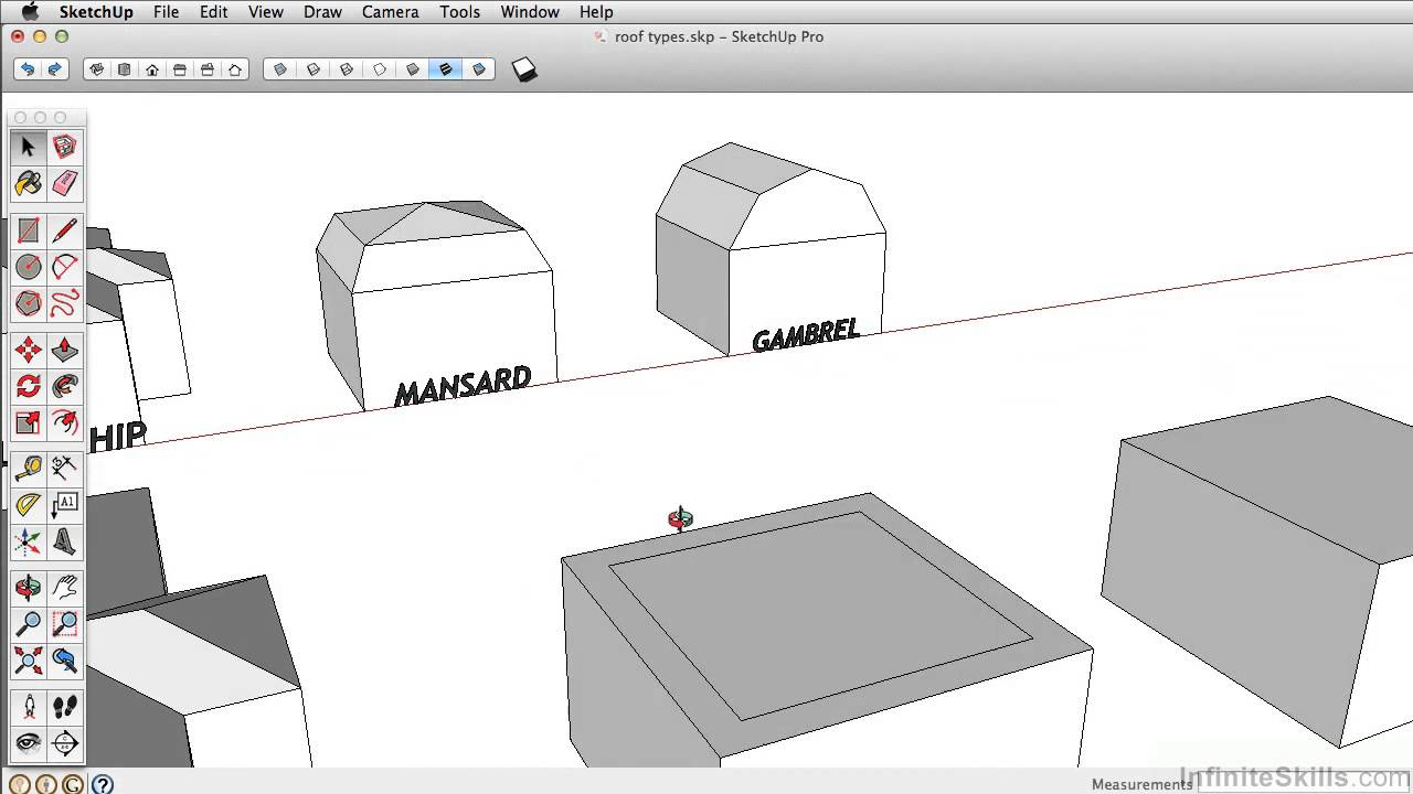 How to draw a gambrel roof in sketchup - Sketchup Pro 2014 Tutorial Creating A Mansard Roof