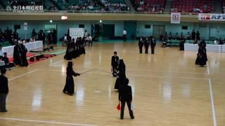 HIROSHIMA vs TOYAMA -The 9th All Japan Interprefecture Ladies Kendo Championship 2017 1stRound