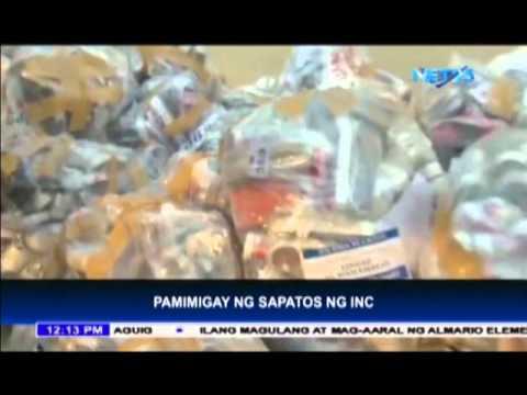 Iglesia Ni Cristo donates thousands of shoes for charity n Tondo, Manila