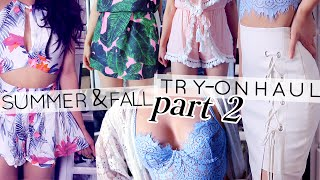 SUMMER / FALL TRY-ON HAUL | HOT AF Dresses, Rompers & more // lilisimply