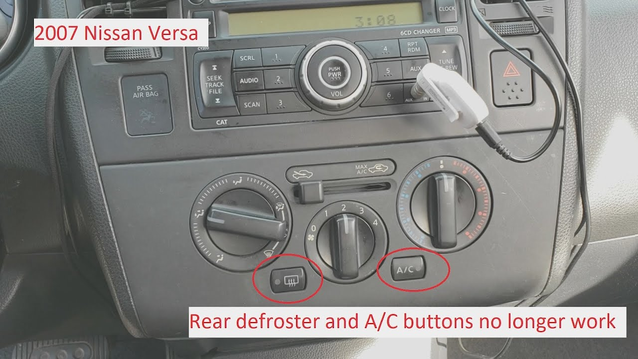 small resolution of 2007 nissan versa rear defroster and a c buttons fix