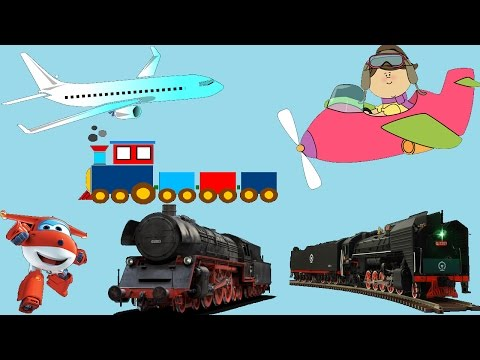 🚂✈ PLANES AND TRAINS FOR KIDS!!!  EDUCATING 10+ TOYS!! LEARN COLORS AND ABC!!
