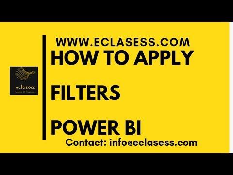 Filters in Power BI | Power BI tutorial