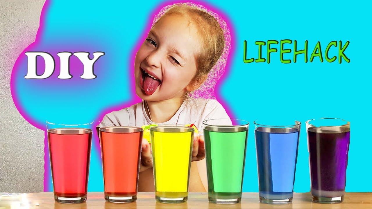 Лайфхаки с водой физика эксперимент для детей опыты for kids experiment учим цвета  explosion