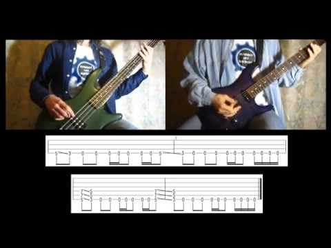 3)-rammstein---du-hast-(bass-&-guitar-lesson-with-tab-|-cover-hd)