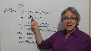 How to Pronounce /j/ and letter Y as in yes