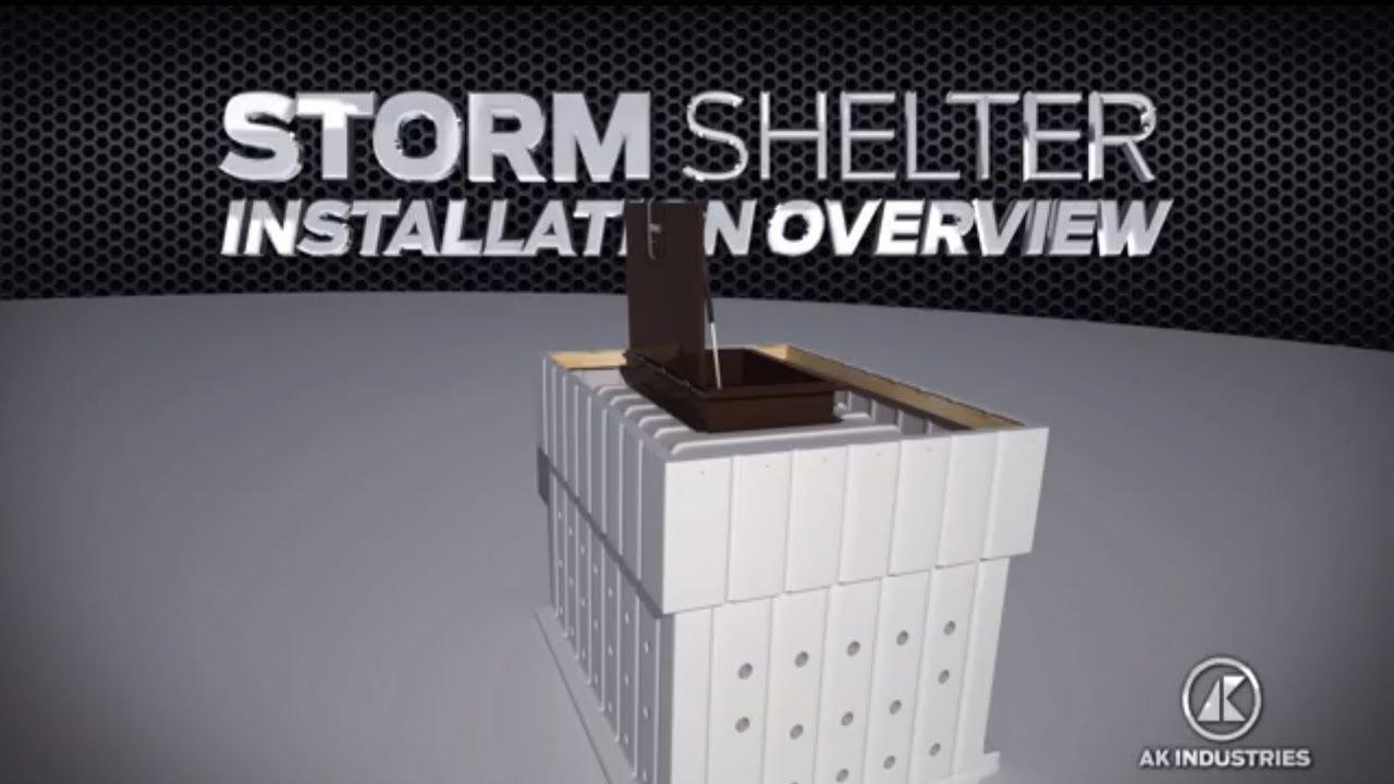 Ak Industries Storm Shelter Diy Polyethylene Concrete Form