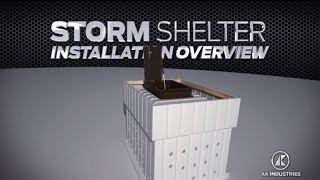 AK Industries Storm Shelter DIY Polyethylene Concrete Form