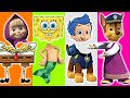 Wrong Heads Cartoon Spongebob Bubble Guppies Masha and the Bear Paw Patrol Chase