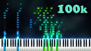 100,000 SUBSCRIBERS 100,000 NOTES (Playable Version) - Piano Tutorial