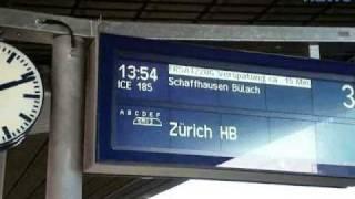 ICE Ersatzverkehr Bahnhof Singen