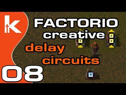 Factorio Circuit SR Latch, Counter and Edge Detection   Factorio Creative  Ep 8