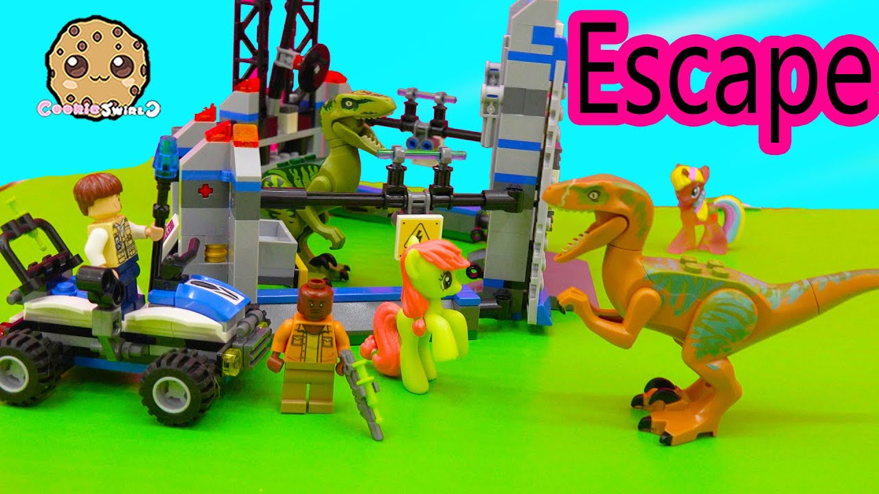 LEGO Jurassic World Raptor Escape Playset with My Little Pony     YouTube Premium