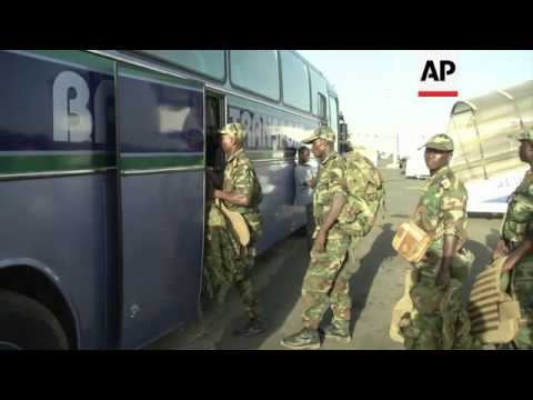 West African  troops arrive to join international forces