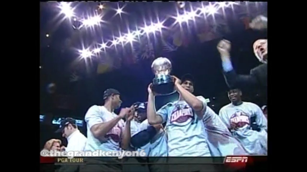 155029cbb New Jersey Nets 2003 Eastern Conference Champions Trophy Presentation