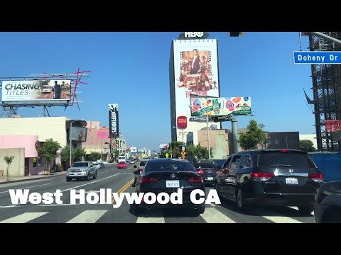🔴  West Hollywood Realtor Driving Tour 4K