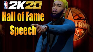 NBA 2K20 HALL OF FAME SPEECH - LEGEND RETIRE HIS 99 OVERALL PLAYERS IN NBA 2K20