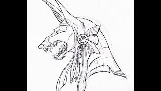 How to draw Anubis