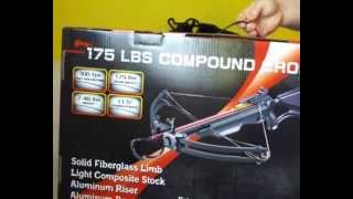 175lb Cougar Quad Limb Compound Cross Package Review and Shooting (long version)