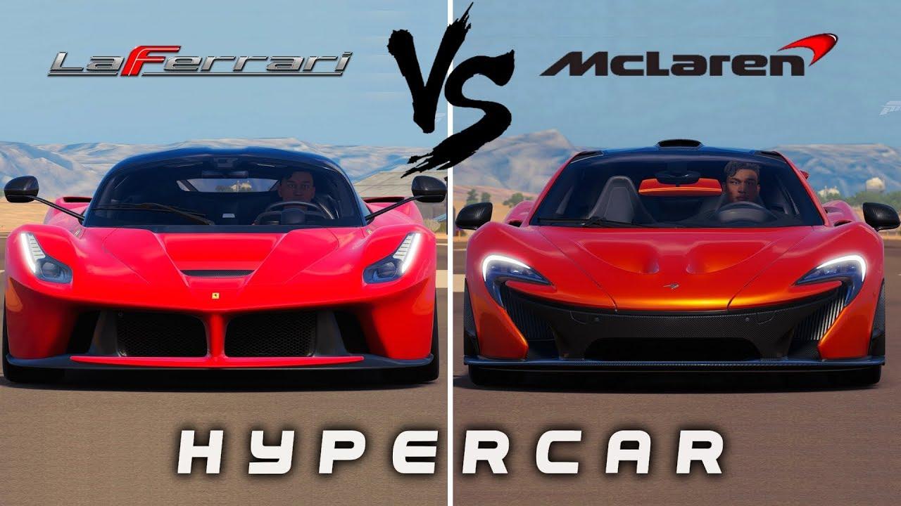 Ferrari Laferrari Vs Mclaren P1 Forza Horizon 3 Youtube
