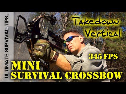 Mini Survival Crossbow – 345 FPS – Hickory Creek – Tactical / Survival / Hunting / Bug Out Bag
