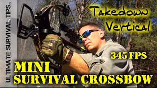 Mini Survival Crossbow - 345 FPS - Hickory Creek - Tactical / Survival / Hunting / Bug Out Bag