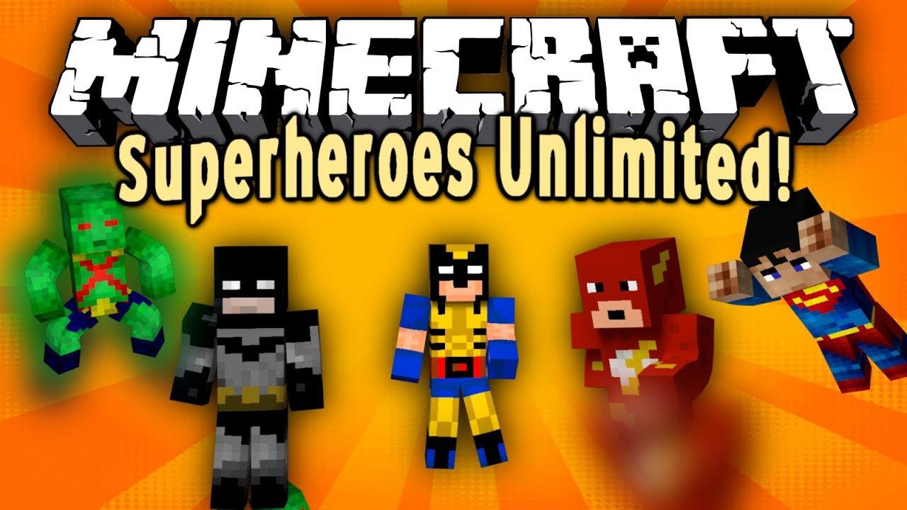 Скачать мод для майнкрафт superheroes unlimited