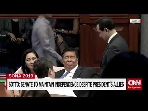 Senators express confidence in Sotto leadership