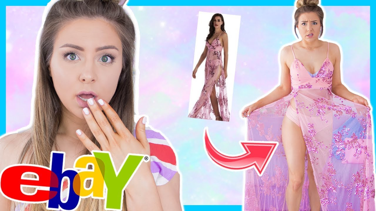 6f3a2e3946a Trying On Prom Dresses I Bought From Ebay! - get video youtube