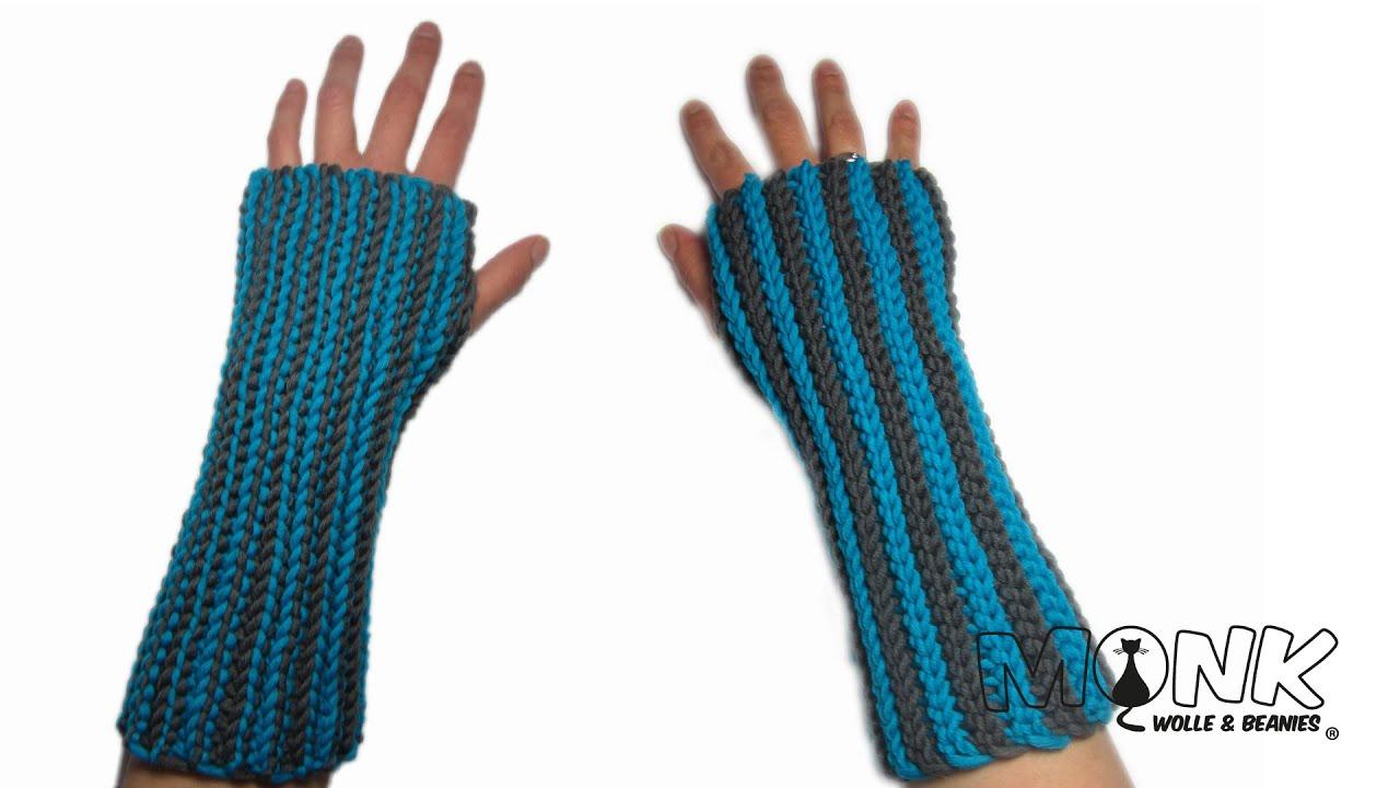 Ribbed Handstulpen / Pulswärmer - Bosnisch häkeln - ribbed wrist ...