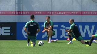 Portugal in training   Portugal's Adrien Silva says not expecting 'easy' Morocco match