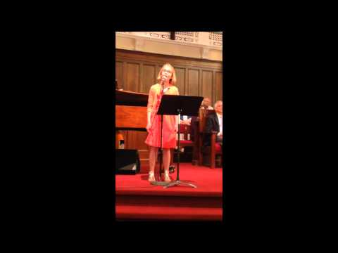 Margaret Anne singing Here Is Love